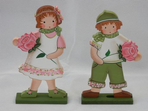 Pink Rose Children - Set of 2 - Medium